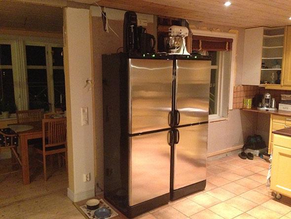 Platsbyggt Kok Ikea Stommar : Planlosningen i vort gamla kok gjorde att en vogg doljde hela